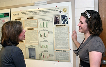 Veterinarians with a Research Poster