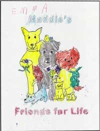 Coloring page of Maddie and friends by Emma