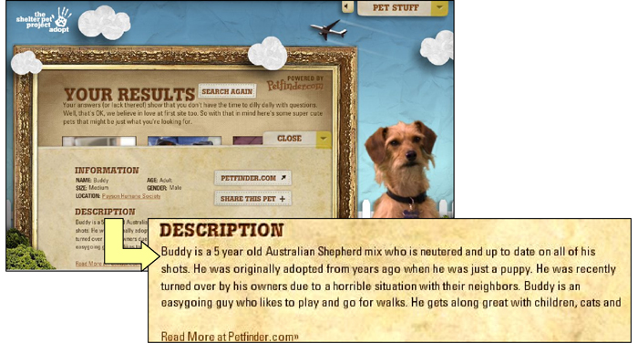 Petfinder screenshot composite 1