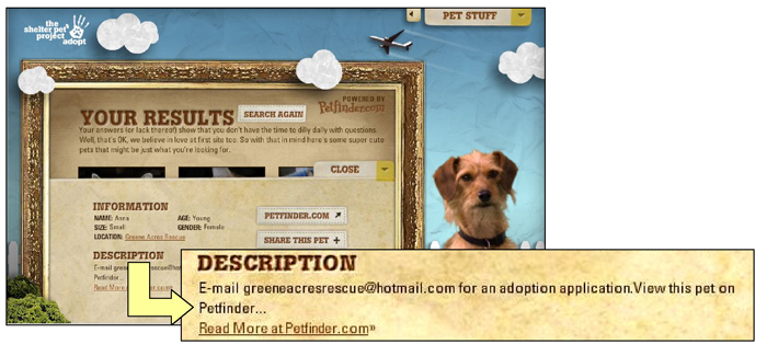 Petfinder screenshot composite 2