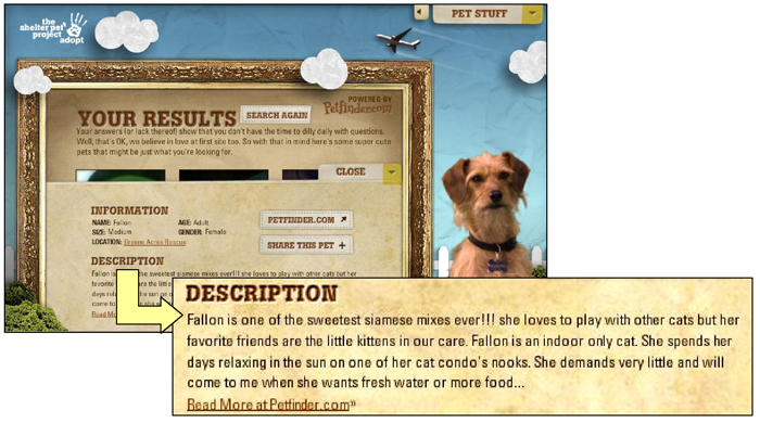 Petfinder screenshot composite 3